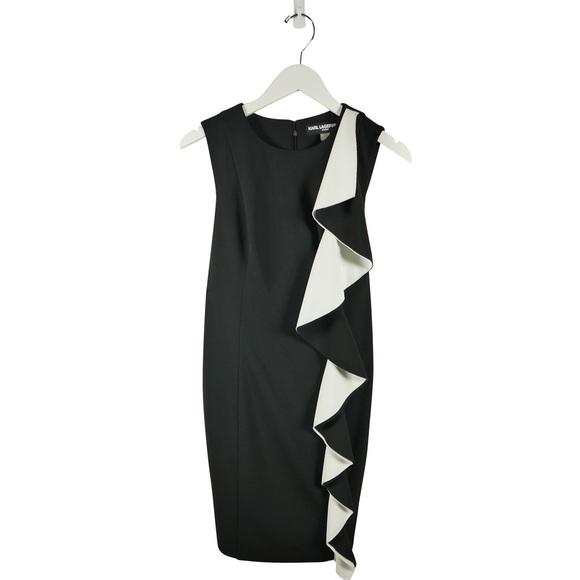 Karl Lagerfeld Dresses & Skirts - (SOLD) Karl Lagerfeld Shift Dress w/ Large Ruffle